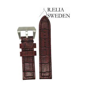 Klockarmband R.Elia - röd krokodilmönstrad läder pani